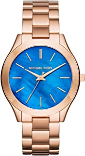 Michael Kors MK3494 Ladies Slim Runway Rose Gold Steel Bracelet Watch