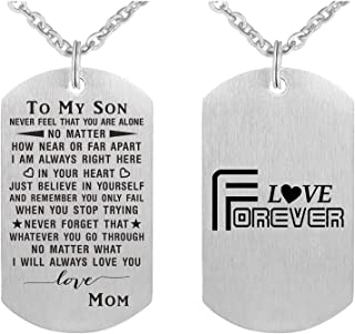 ABBNT Boys Necklace Gifts for Son from Mom Dad