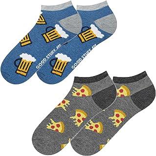 soxo, Calcetines de Color para Hombre | Talla 40-45 | Multipack | Calcetines Algodón Cortos con Dibujos Graciosos | Perfectos para Zapatos y Botas