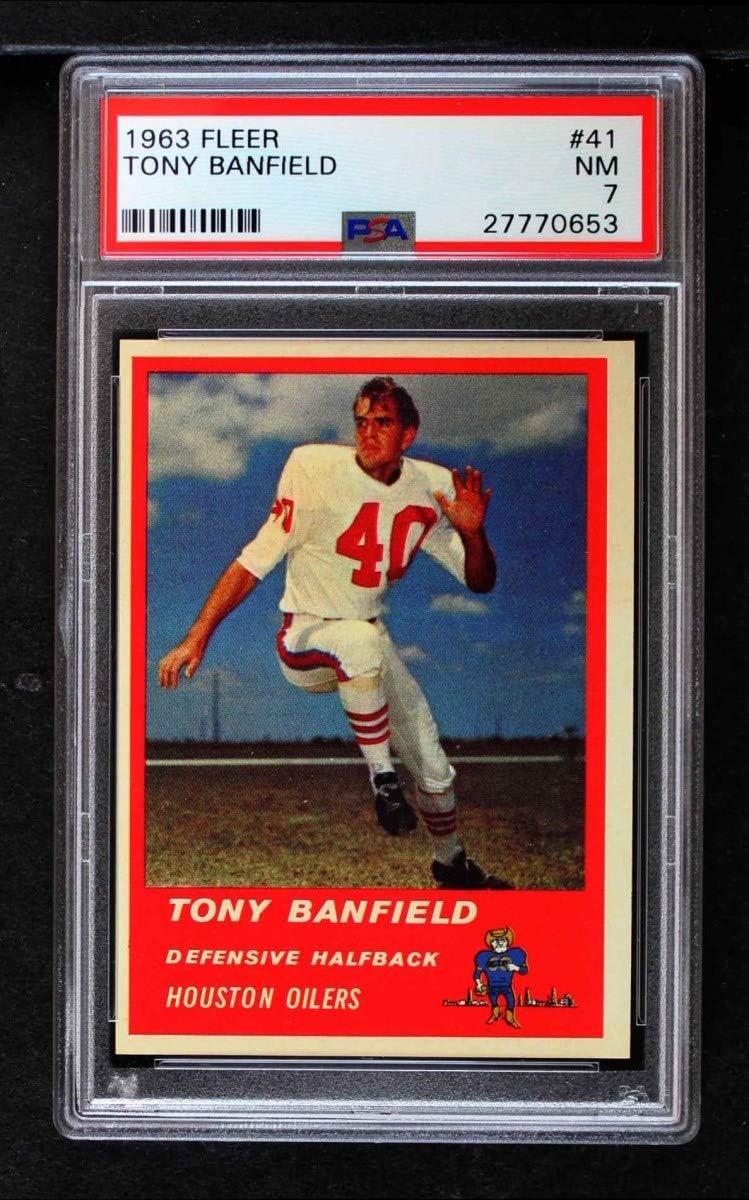 1963 Fleer # Jacksonville Mall 41 Tony Banfield Card Houston PSA trust Oilers Football