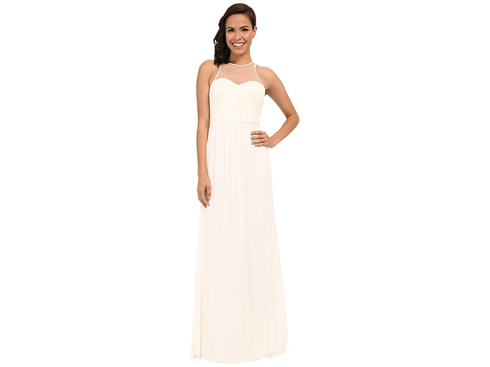 Faviana Chiffon Gown with Illusion Sweetheart Neckline/Rouched Bodice Keyhole Back 7774 (Ivory) Women