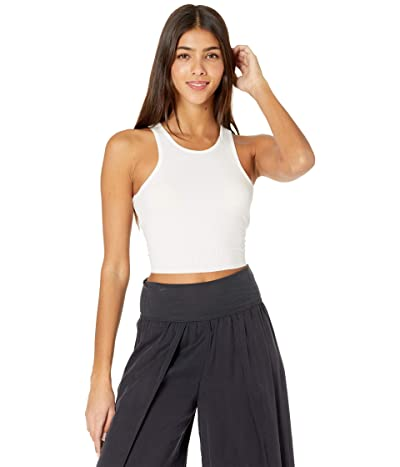 Free People High Neck Ribbed Crop