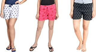 Unknown Women Regular Shorts (Pack of 3) (WSCOMBO3_357_L_Multicolored_Large)