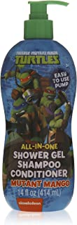 Teenage Mutant Ninja Turtles All-in-one Shower Gel Shampoo Conditioner - Mutant Mango - 14 Fl Oz by MZB Accessories