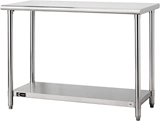 TRINITY EcoStorage NSF, 48-Inch Stainless Steel Utility Table,