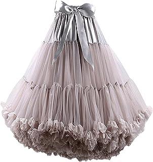 FOLOBE Adulti Lussuosa Tutu Petticoat Costume Balletto di Ballo Multi-Strato Morbido Chiffon Sottogonna in Tulle Tutu dell...