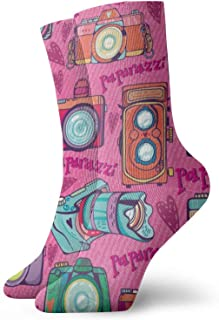 Osmykqe, Calcetines de tobillo atléticos de compresión de media pantorrilla retro lindo colorido niño niña