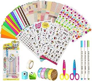 KANOSON Scrapbooking Kit 43 Pièces, Accessoires Album Photo, Accessoires pour Agenda Livre(Autocollants Décoratifs, Adhési...