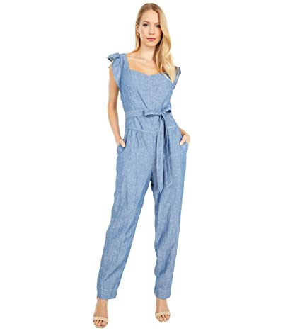 La Vie Rebecca Taylor Sleeveless Indigo Jumpsuit (Rinse Wash) Women
