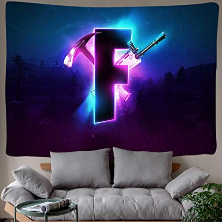 Amazon Com Dbllf Game Tapestry Competitive Game Logo Tapestry Video Battle Game Wall Hanging For Bedroom Living Room Dorm Handicrafts Curtain Home Decor 80 60 Inches Dbzy0601 Everything Else