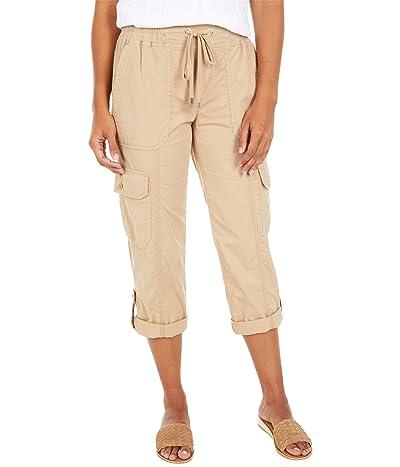 LAUREN Ralph Lauren Cotton Twill Cargo Pants (Birch Tan) Women