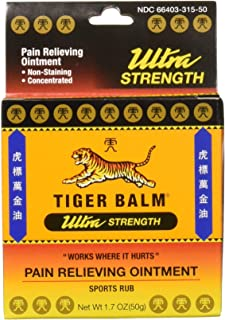 comprar comparacion Tiger Balm Pain Relieving Ointment Ultra Strength Non-staining, 1.7 Ounce