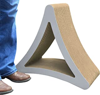 PetFusion 3-Sided Vertical Cat Scratching Post (Large Size, Warm Gray). [Multiple Scratching Angles to Match Your Cat's Pr...