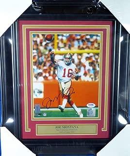 Joe Montana Autographed Framed 8x10 Photo San Francisco 49ers PSA/DNA #T67566