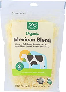 365 by Whole Foods Market, Organic Cheese Shreds, Mexican Blend, 8 Ounce