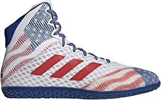 adidas Mat Wizard Hype White/Royal/Red Wrestling Shoes 7.5
