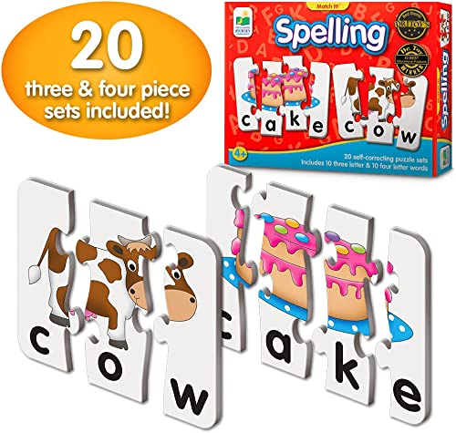 The Learning Journey: Match It! - Spelling - 20 Self-Correcting Spelling Puzzle for Three and Four Letter Words with ...