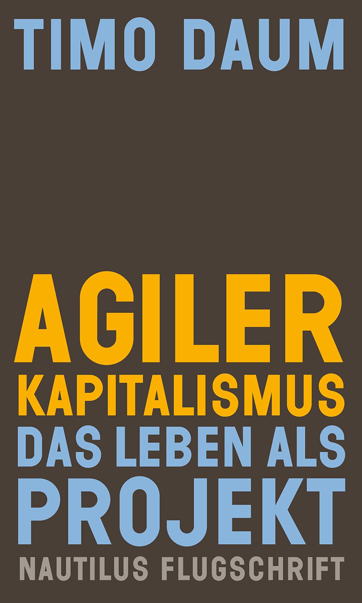 Agiler Kapitalismus: Das Leben als Projekt (Nautilus Flugschrift) (German Edition)