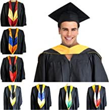 GRADWYSE Master of Science Master Hood M.S. Golden Yellow Graduation Master Degree Hood, Various College Colors Available