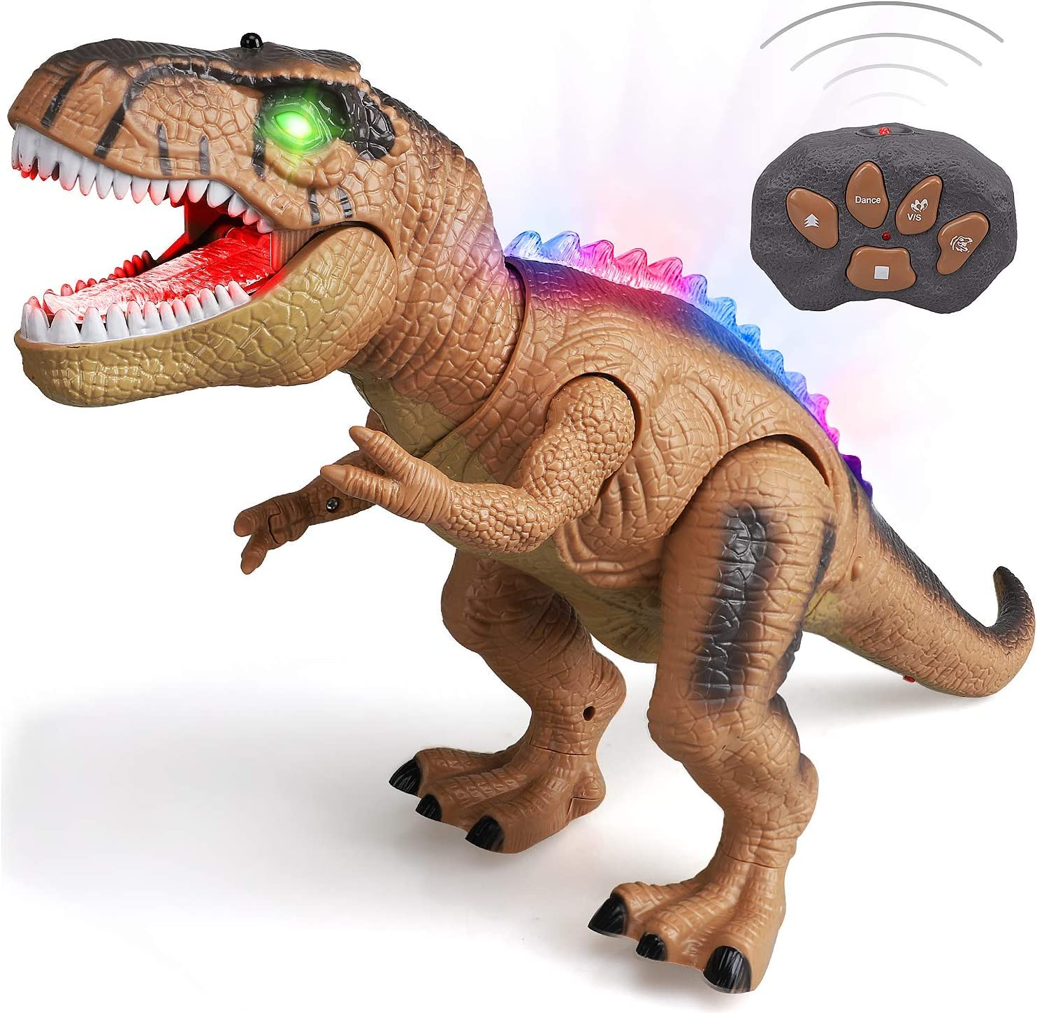 T rex Dinosaur Toys for Boys STEAM Life Remote Control Dinosaur Toys for Kids Light Up /& Realistic Roaring Sound Dinosaur Robot Toy for Kids Boys Girls 3 4 5 6 7 Walking Dinosaur Toys Brown
