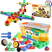 ETI Toys   STEM Learning   Original 101 Piece Educational Construction Engineering Building Blocks Set for 3, 4 and 5+ Year Old Boys & Girls   Creative Fun Kit   Best Toy Gift for Kids Ages 3yr - 6yr