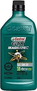 Castrol 6007 GTX MAGNATEC 5W-20 Full Synthetic Motor Oil, 1 Quart, 6 Pack