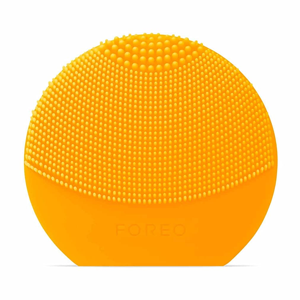 蛾スカイ枕FOREO LUNA Play Plus サンフラワーイエロー シリコーン製 音波振動 電動洗顔ブラシ 電池式