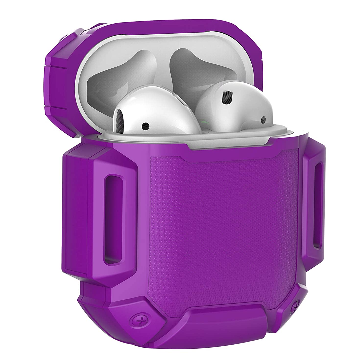 Moretek Silicone Protective Airpods Accessories Cases Cover for Apple Airpods & Airpods2 & Airpods 2 Charging Case (Purple)