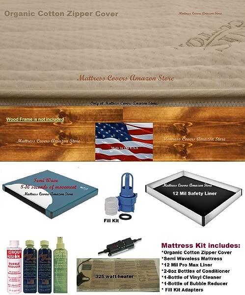 California King Semi Waveless Waterbed Mattress With Zipper Cover Heater