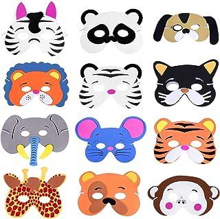 YeahiBaby Máscara de Espuma de Animales Surtidos para los niños Fiesta de cumpleaños favores de Vestir Costume-12pcs