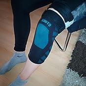ZHIJING Kniebandage Kompression atmungsaktiv Knieschoner rutschfest elastisch rechts Links f/ür Sport Fitness Joggen Radfahren Skifahren f/ür Damen Herren schwarz blau
