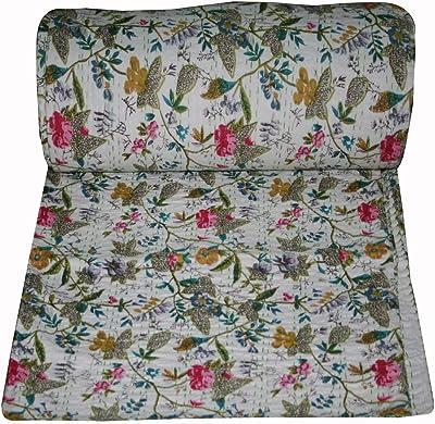 Amazon.com: Yuvancrafts - Colcha de algodón indio con ...