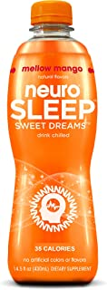 Neuro SLEEP Mellow Mango, 14.5 oz Bottles (35 Calories) (Pack of 12)