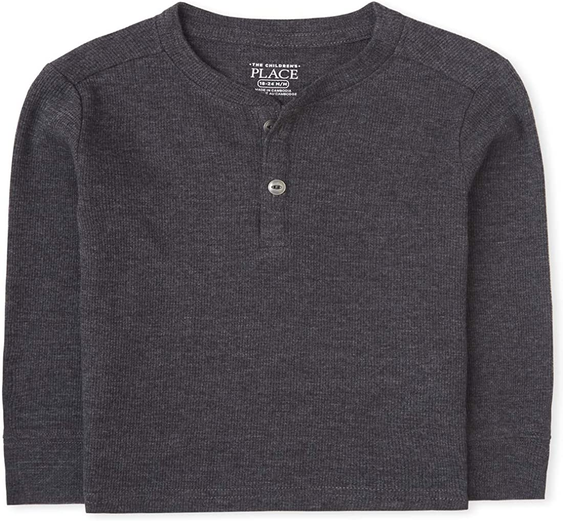 The Children's Place Boys' Baby and Toddler Thermal Henley Top: Clothing, Shoes & Jewelry