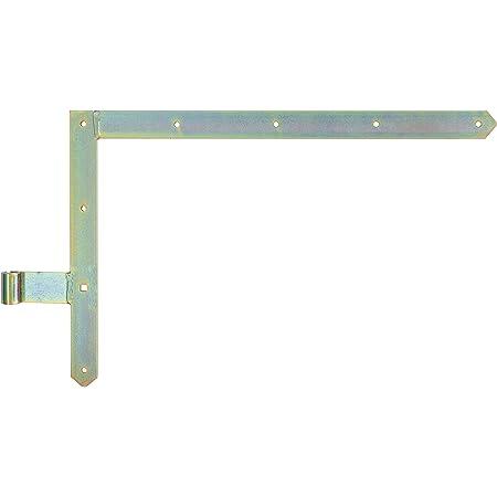 unten Rolle: /Ø20 mm // 600 x 1000 mm Abschluss spitz GAH-ALBERTS 312879 Tor-Winkelband f/ür Garagentore galvanisch gelb verzinkt gerade