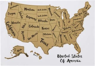 "Amazon Basics Scratch Off Poster of The United States Map with Scratcher and Tracking Accessories,17"" x 11.8"""