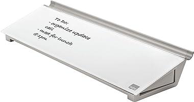 Nobo Notitiebord voor op Bureau, Droog Uitwisbaar Glazen Oppervlak, Draagbaar, Frameloos, 458 x 154 Millimeter,...