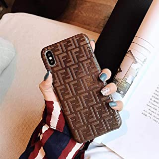 Phone Case for iPhone Xs, Phone Case for iPhone X, Fashion Luxury Classic 3D Pattern Leather Back Protective Case for iPhone Xs, iPhone X
