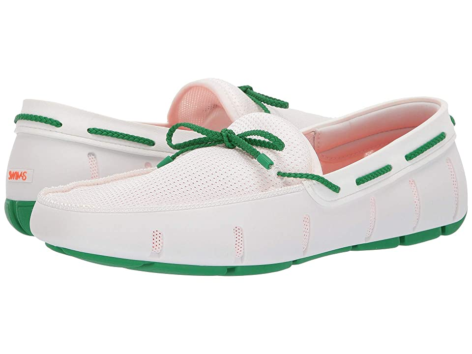 SWIMS Braided Lace Loafer (White/Jolly Green) Men
