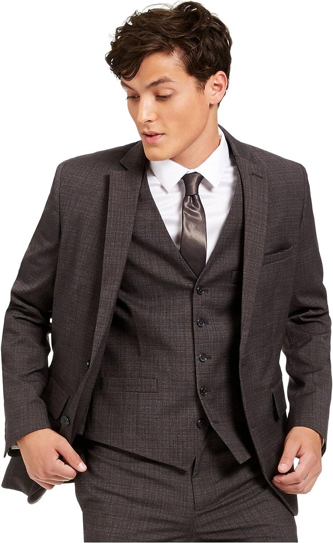 INC Mens Suit Seperates Large Slim Fit Stretch Blazer Gray L