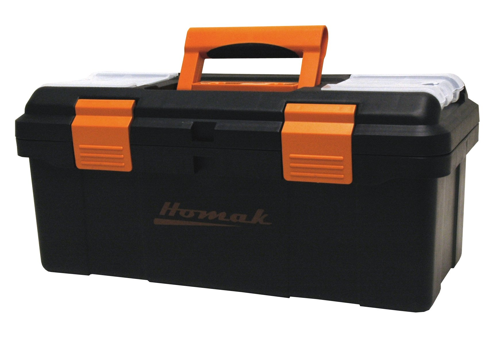 Homak 16 Inch Plastic Tool Box With Tray And Dividers Black Bk00116004 Toolboxes Amazon Com