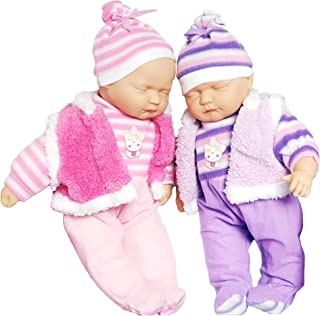 "Baby Cuddles 18"" Twins Baby Dolls Twin Babies Cuddles Baby Girl Boy New Born Doll with 2 Extra Outfits"