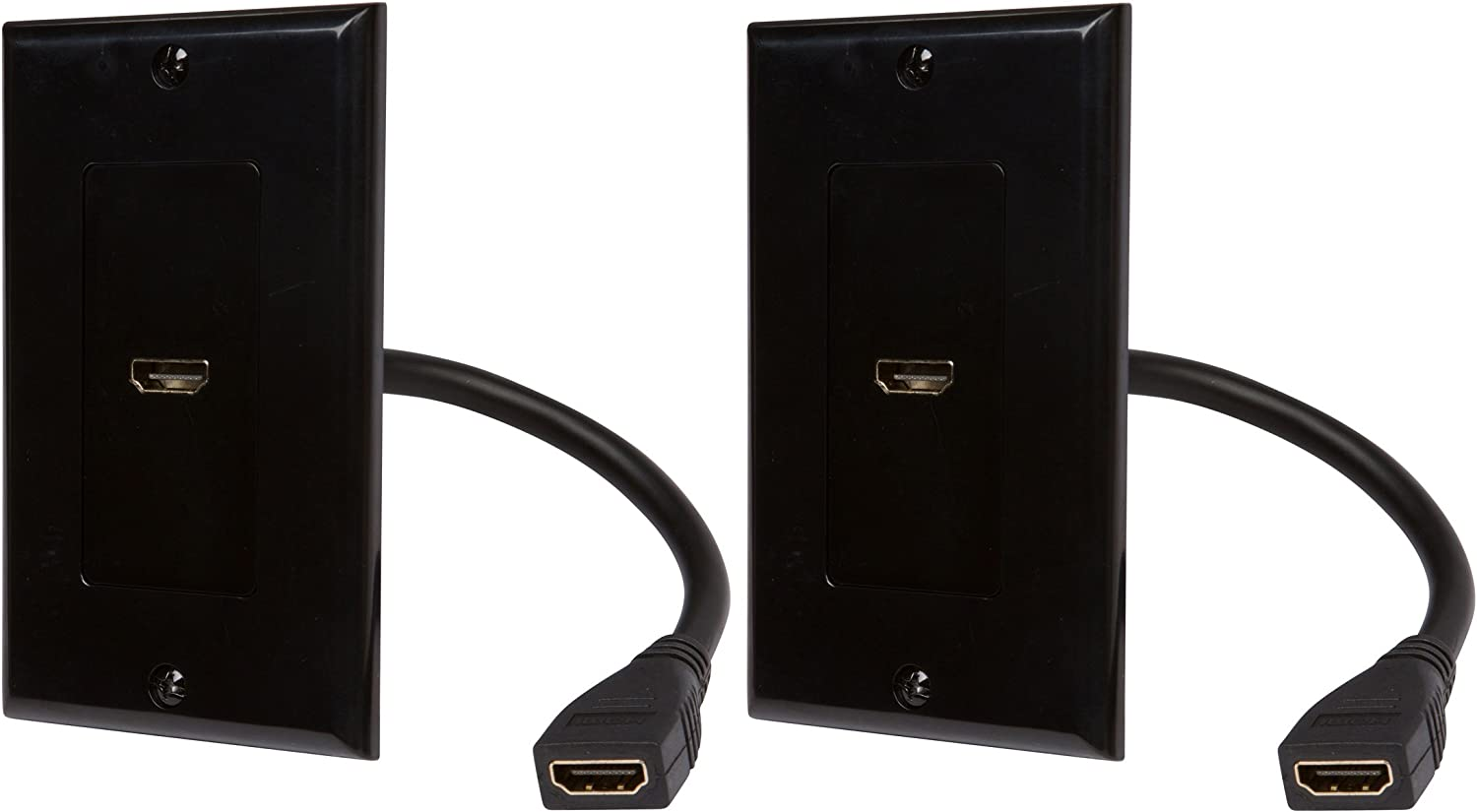Buyer's Point HDMI Wall Plate UL OFFicial mail Luxury order Pigtail with 2 Listed 6-Inch