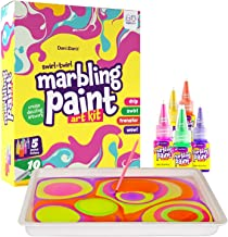 Dan&Darci Marbling Paint Art Kit for Kids - Arts and Crafts for Girls & Boys Ages 6-12 - Craft Kits Art Set - Best Tween P...