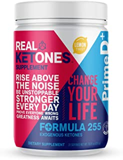 Real Ketones� Prime D+ Exogenous Keto BHB + MCT Oil- 28 Servings- Drink Mix Powder Supplement with Electrolytes � Lemon Twist- Ketosis in 1 Hour