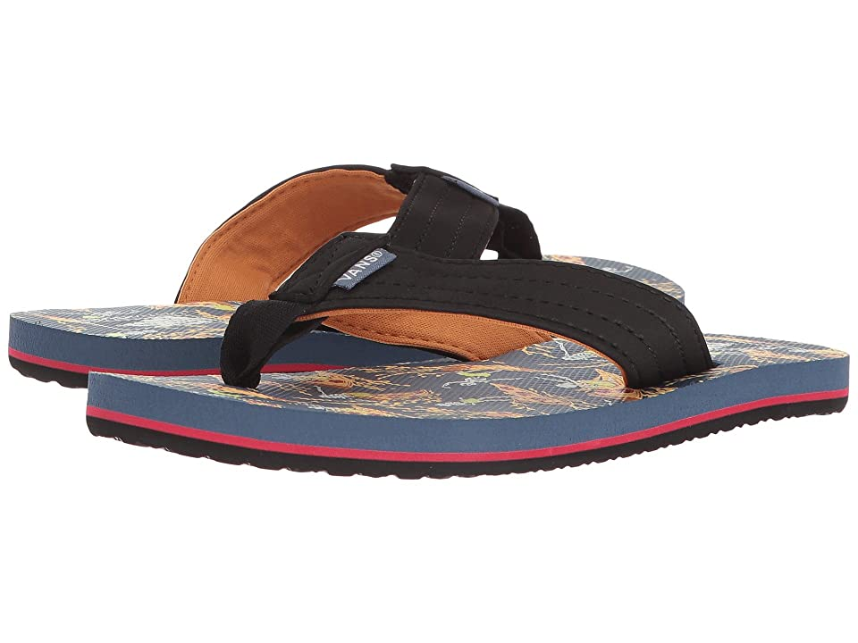 Vans Kids T Street Jr. (Little Kid/Big Kid) ((Pizza Surf) Black/Vintage Indigo) Boys Shoes