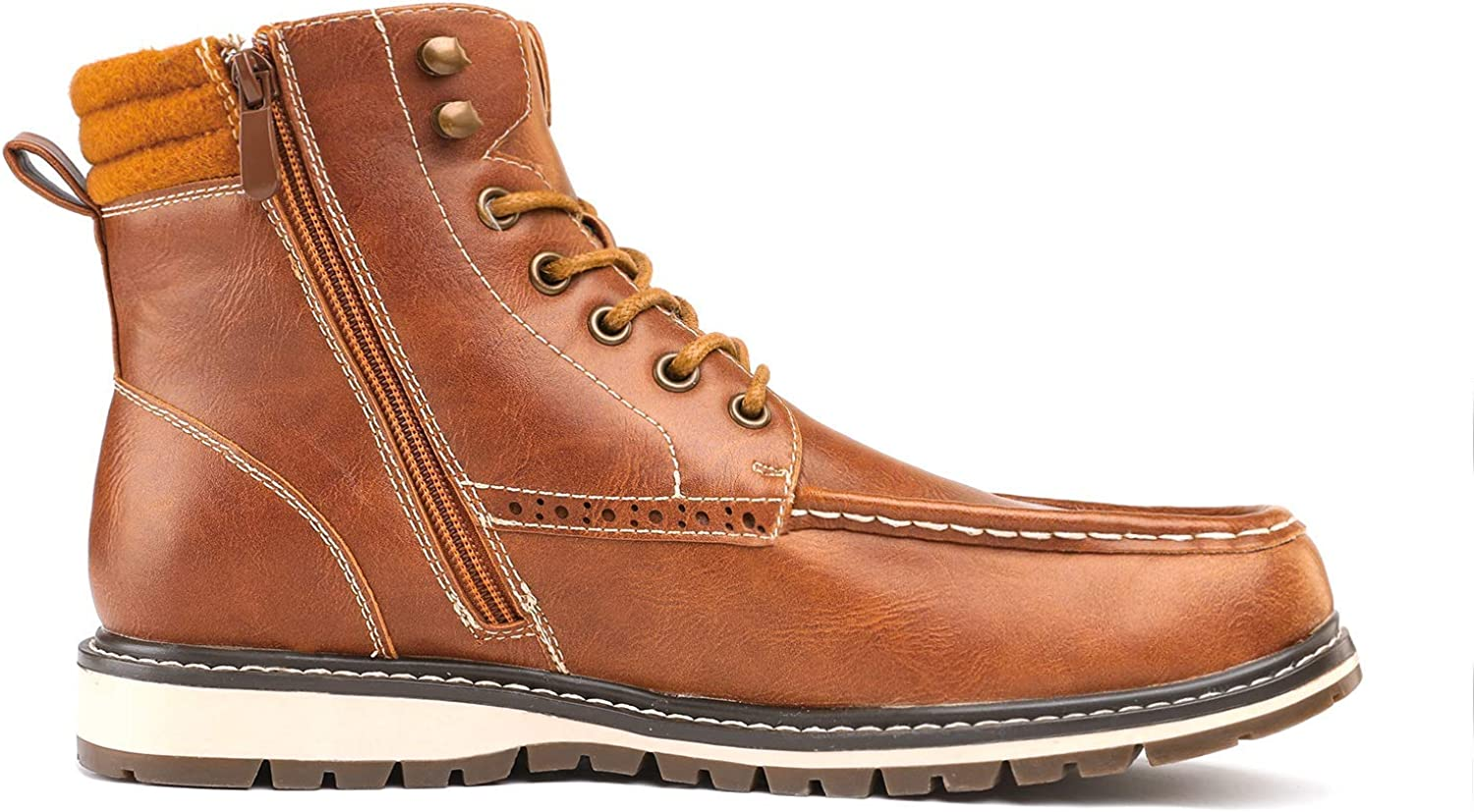 Bruno Marc Mens Apache Motocycle Combat Ankle Boots