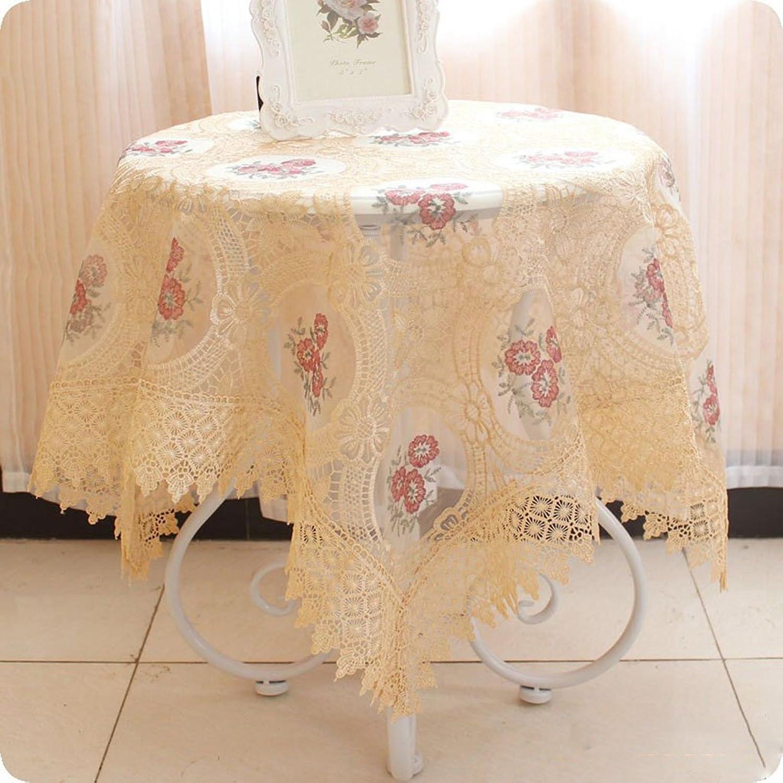 Unbekannt %Tablecloth Runde Tischdecke europäischen Stil Staub Stickerei Tischdecken (Farbe   B, größe   110  110cm) B07G578F2G Sonderangebot | Outlet