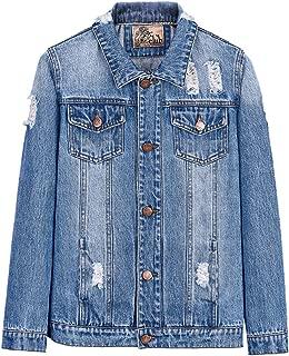 Kids Boys Denim Jacket Jenas Coat Top Outwear for Size 5-12 Years