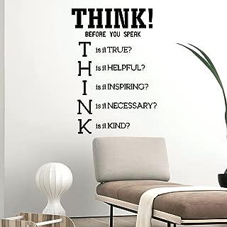 Vinyl Wall Art Decal - Think! Before You Speak - 34